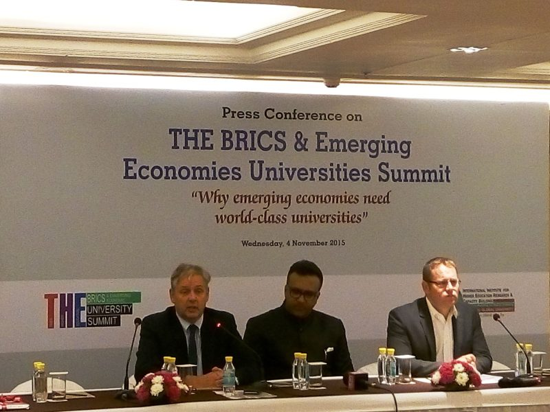 """India to Host """"TIMES Higher Education BRICS & Emerging Economies Universities Summit"""" for the First Time"""